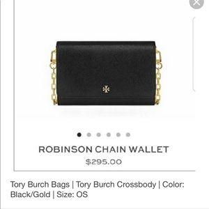 Tori Burch Robinson chain wallet